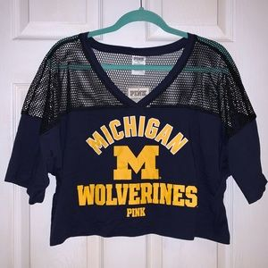 PINK Michigan Wolverines Crop Top - NWT